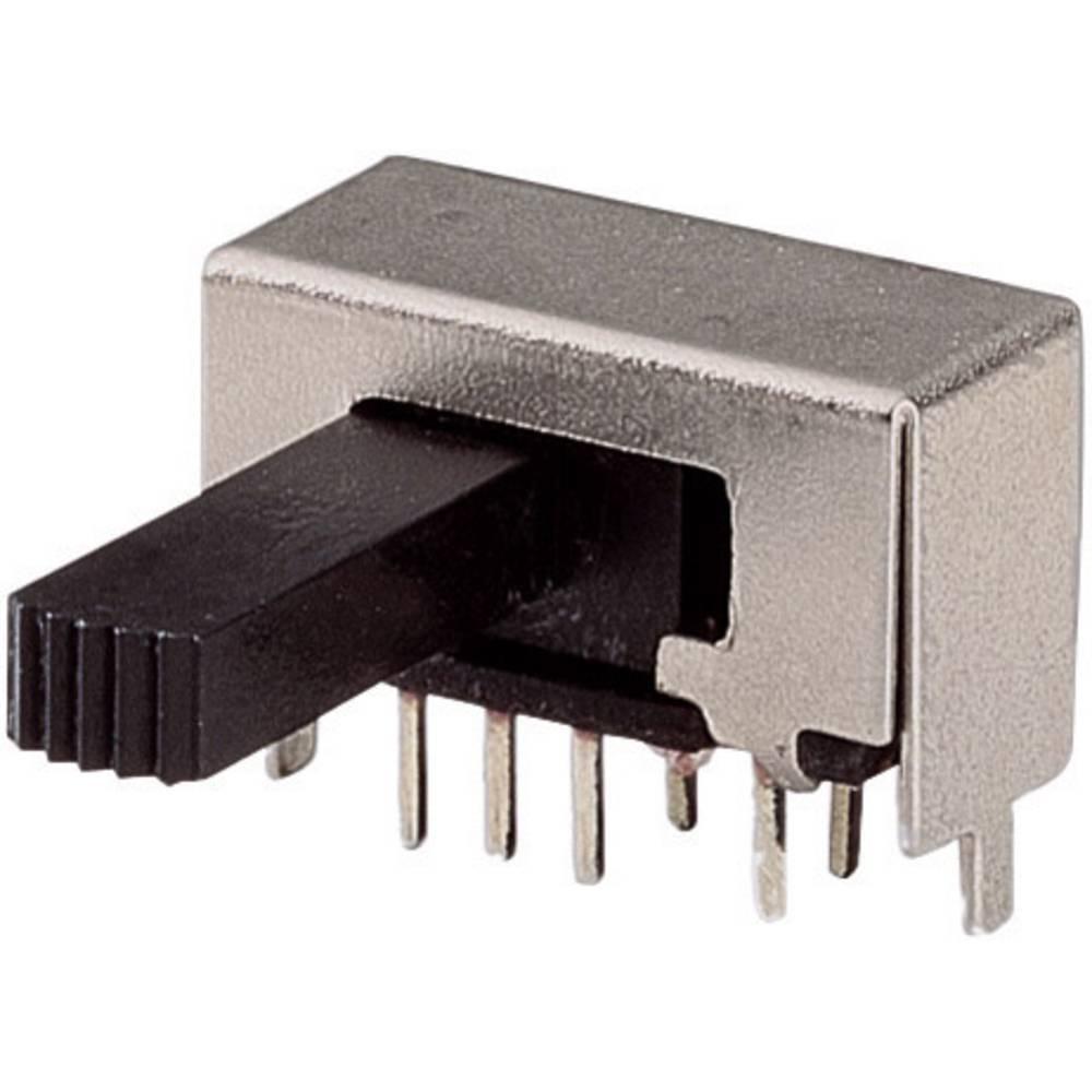 Klizajuči prekidač 2 x uklop/uklop/uklop 50 V 0,3 A