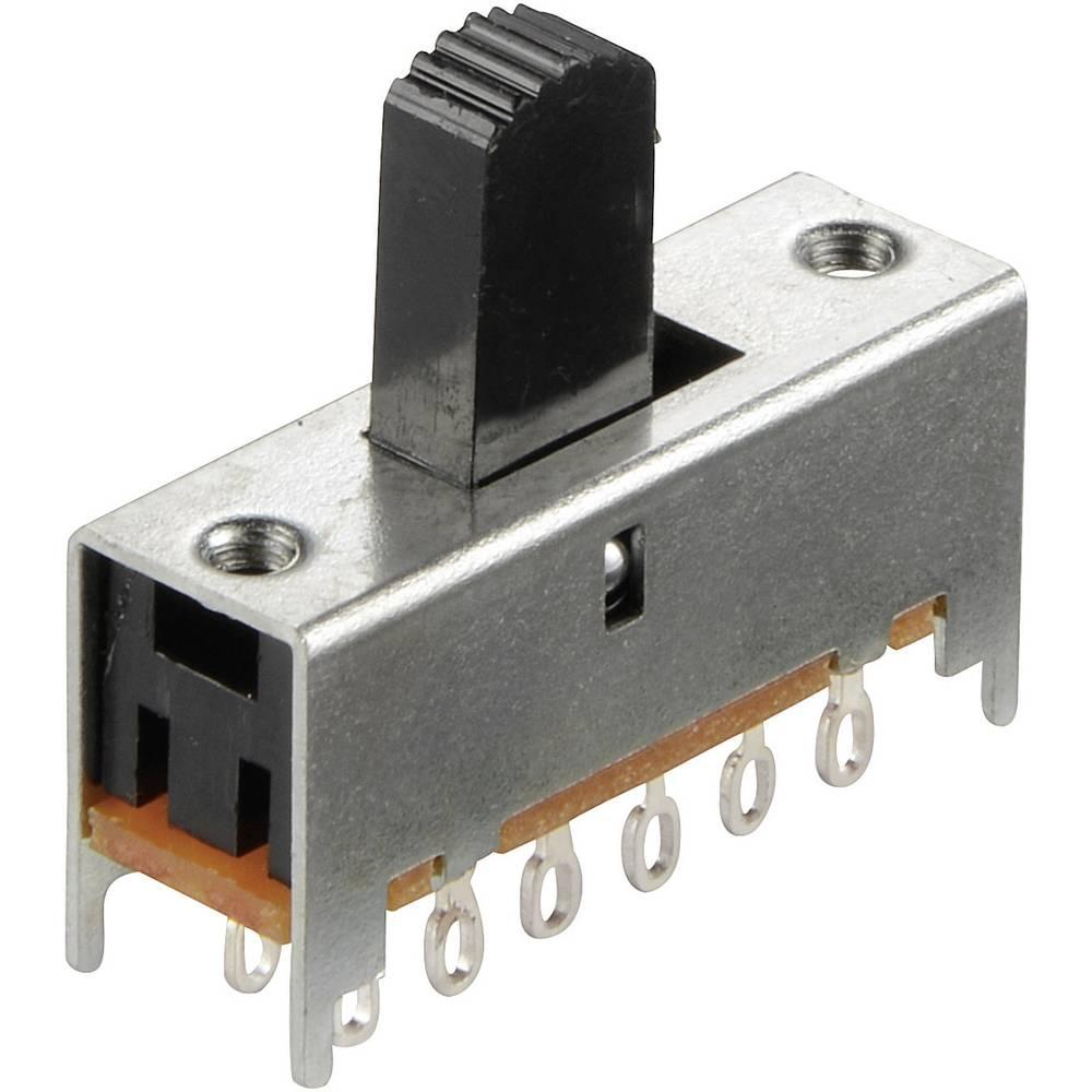 Klizajuči prekidač 4 x uklop/uklop 30 V/DC 0.1 A