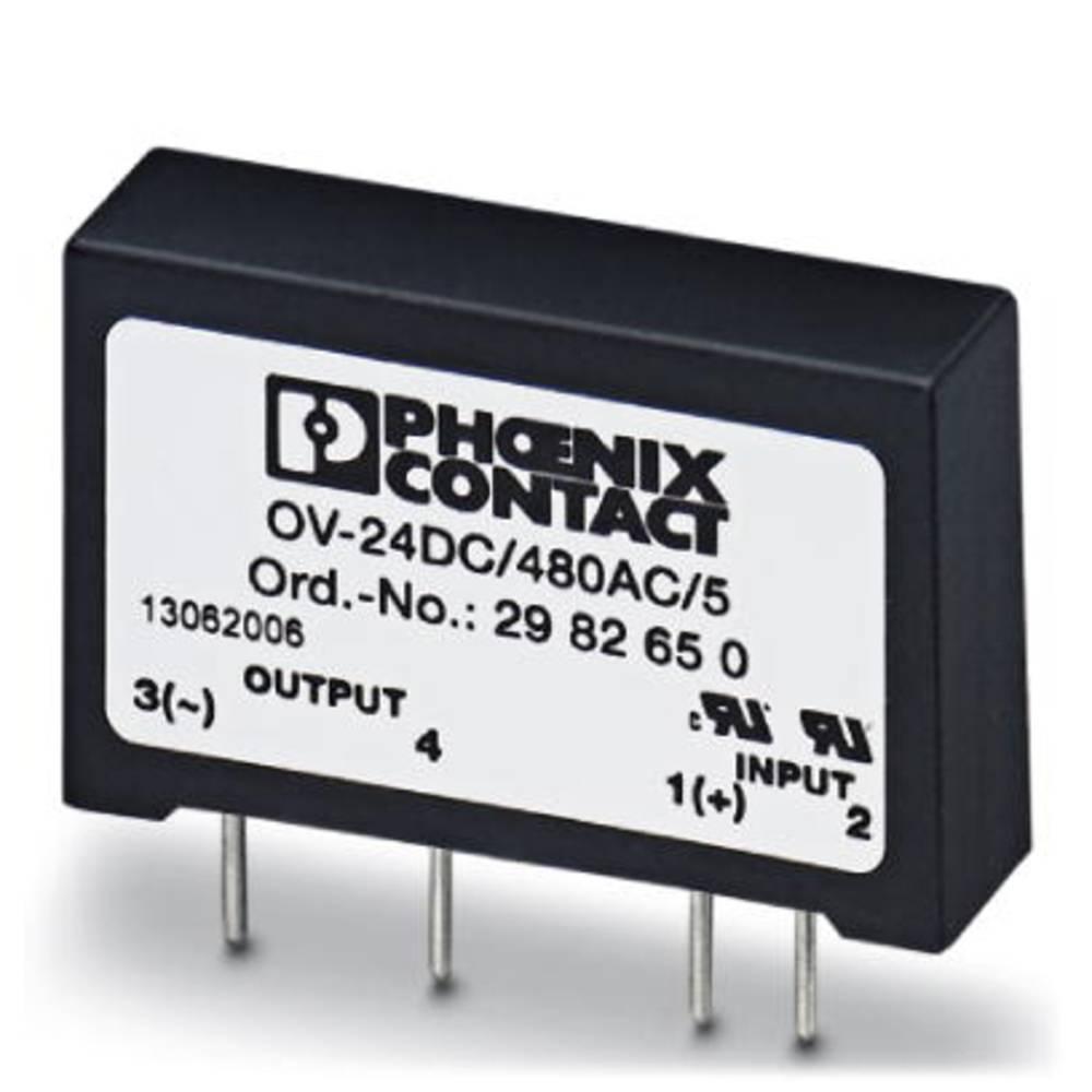 Halbleiterrelais (value.1292894) 10 stk Phoenix Contact OV-24DC/480AC/5 Last-Strøm (maks.): 5 A Koblingsspænding (max.): 530 V/A