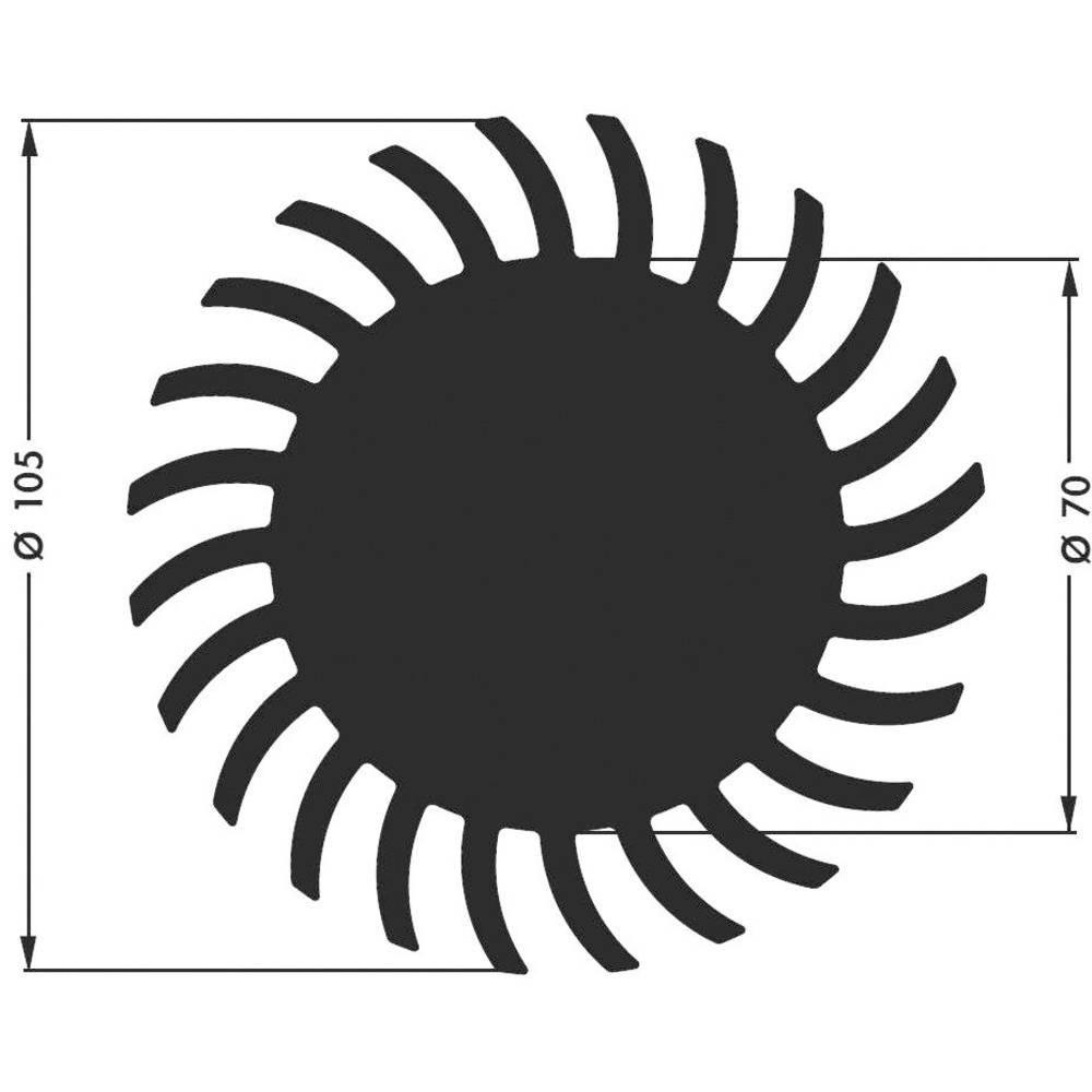 LED hladilno telo 1.75 K/W (premer x V) 105 mm x 20 mm Fischer Elektronik SK 584 20 SA