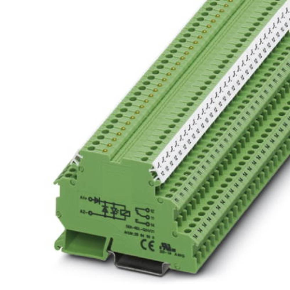 Relæklemme 10 stk Phoenix Contact DEK-REL-G24/21 Nominel spænding: 24 V/DC Brydestrøm (max.): 6 A 1 x skiftekontakt