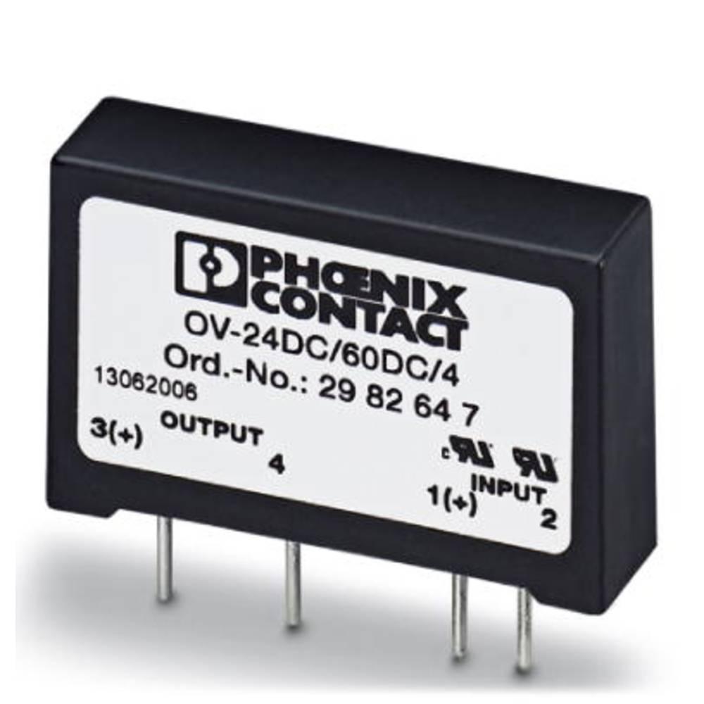 Halbleiterrelais (value.1292894) 10 stk Phoenix Contact OV-24DC/ 60DC/4 Last-Strøm (maks.): 4 A Koblingsspænding (max.): 60 V/DC