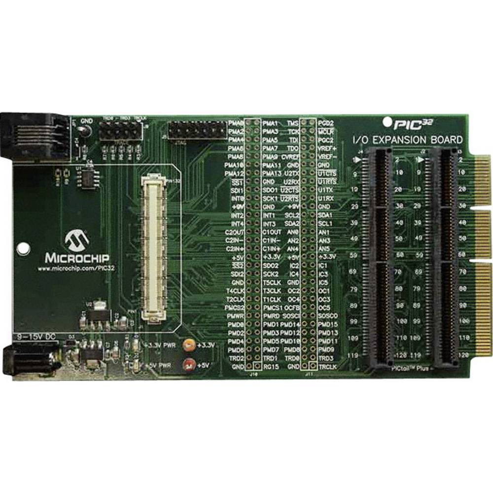Vhodno-izhodna razširitvena plošča Microchip Technology PIC32 DM320002