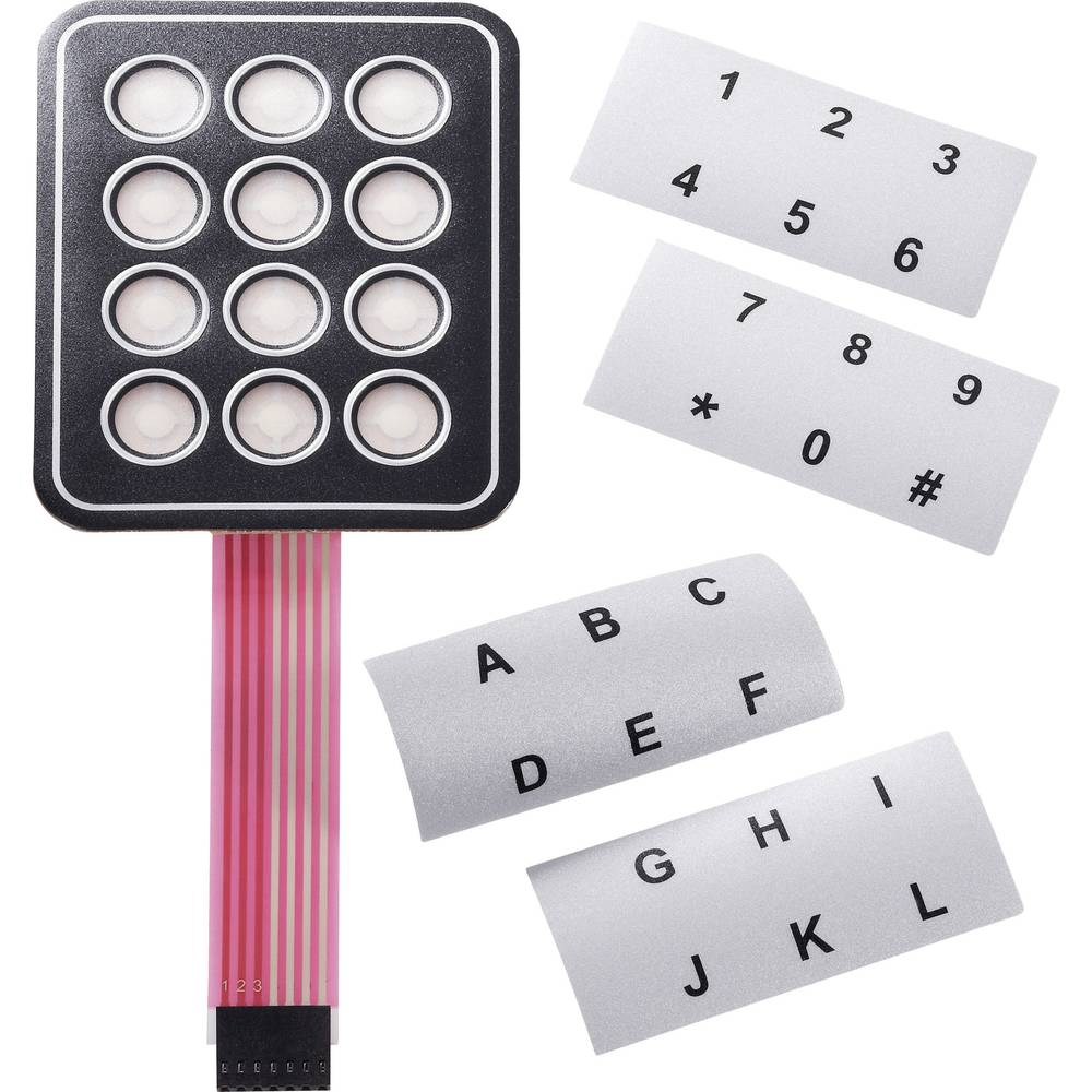 APEM Tipkovnica s folijo s trakom za napise ali oznake AC3534 matrix 3 x 4 obremenitev kon