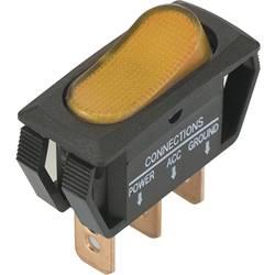 Klecno stikalo SCI R13-242B2,osvetljeno, 3 x vklop/vklop, zaskočno/zaskočno, 25 A, rumeno