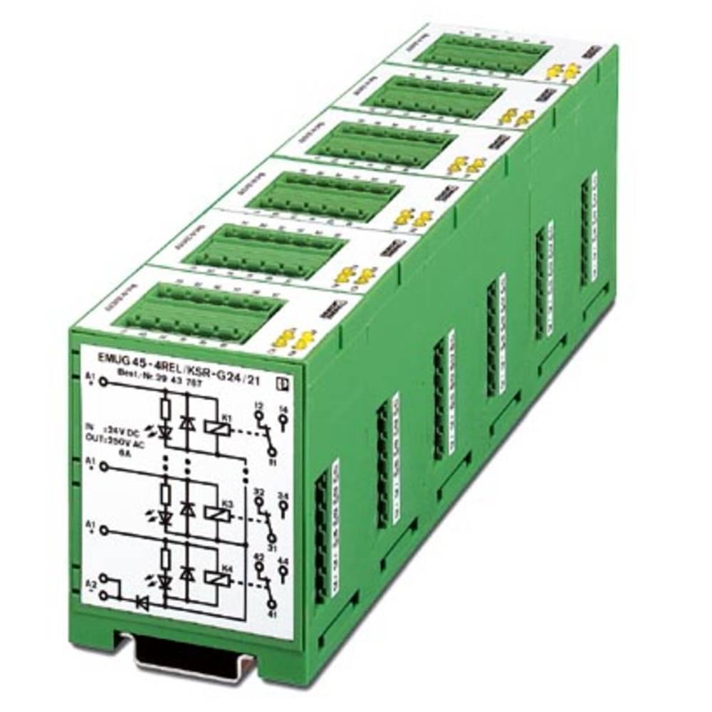 Relejski modul 5 kosov Phoenix Contact EMUG 45- 4REL/KSR-G 24/21 nazivna napetost 24 V/DC preklopni tok (maks.): 6 A 1 izmenjeva