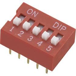 DIP-prekidač, broj polova 7 Standard TRU Components DS-07 1 kom.
