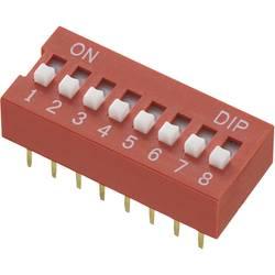DIP-prekidač, broj polova 12 Standard TRU Components DS-12 1 kom.