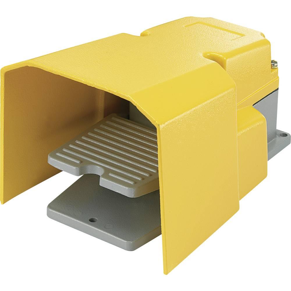 FS-502-Nožno tipkalo, 250 V/AC, 15A, 1 pedal z zaščitnim pokrovom, 1 x delovni kontakt, 1 x mirovni kontakt, 1 kos