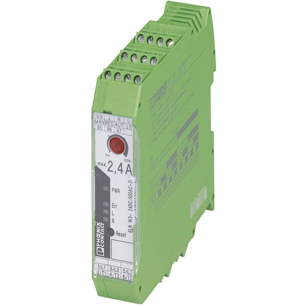 Povratni obremenitveni rele 1 kos ELR W3- 24DC/500AC- 2I-BR Phoenix Contact bremenski tok: 2.4 A preklopna napetost (maks.): 550
