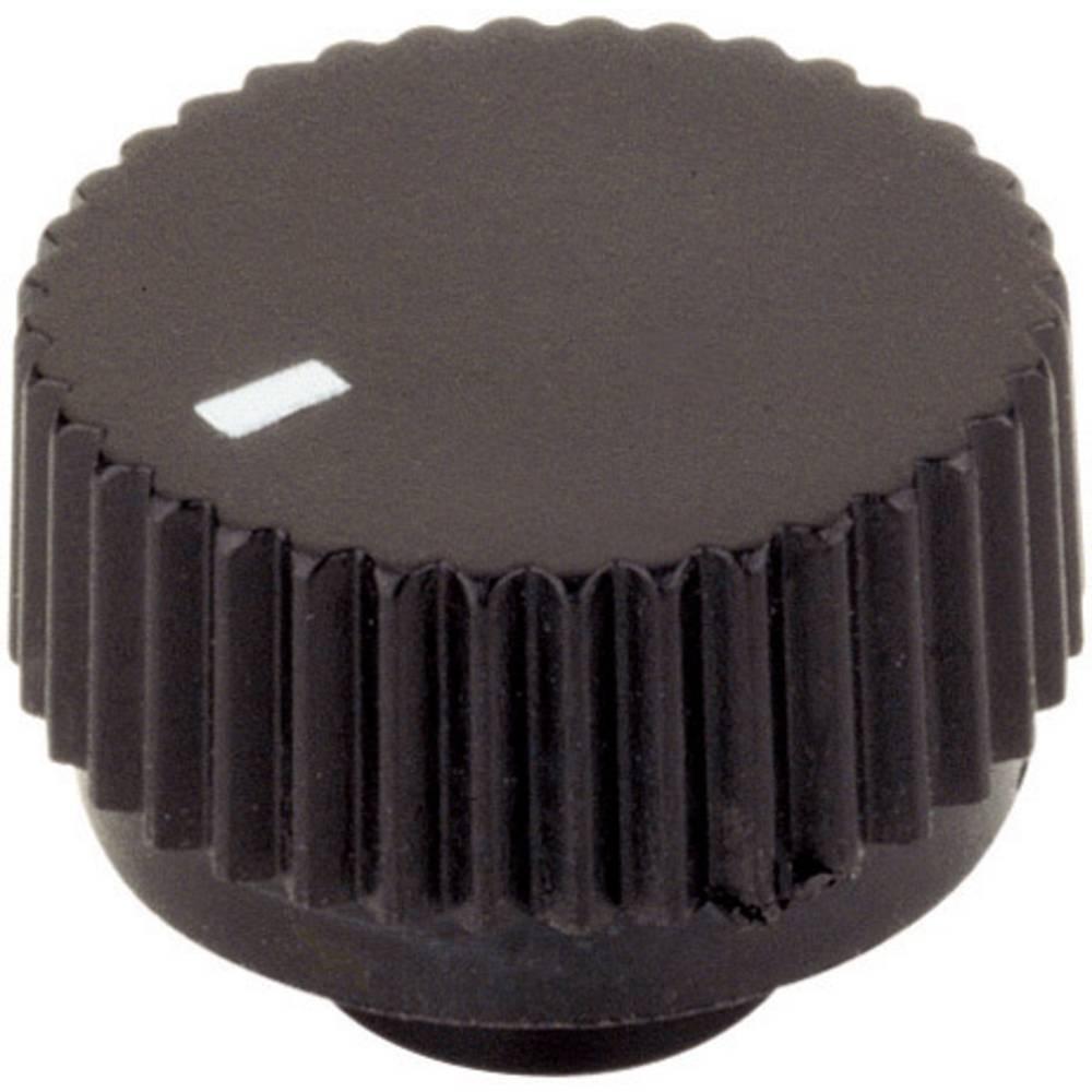 Vrtljivi gumb s pritrditvijo KNOPF 17/6 MM črni, premer osi6 mm