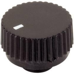 Vrtljivi gumb s kazalcem, črne barve (Ø x V) 17 mm x 12 mm TRU Components TC-17/6/SW203 1 kos