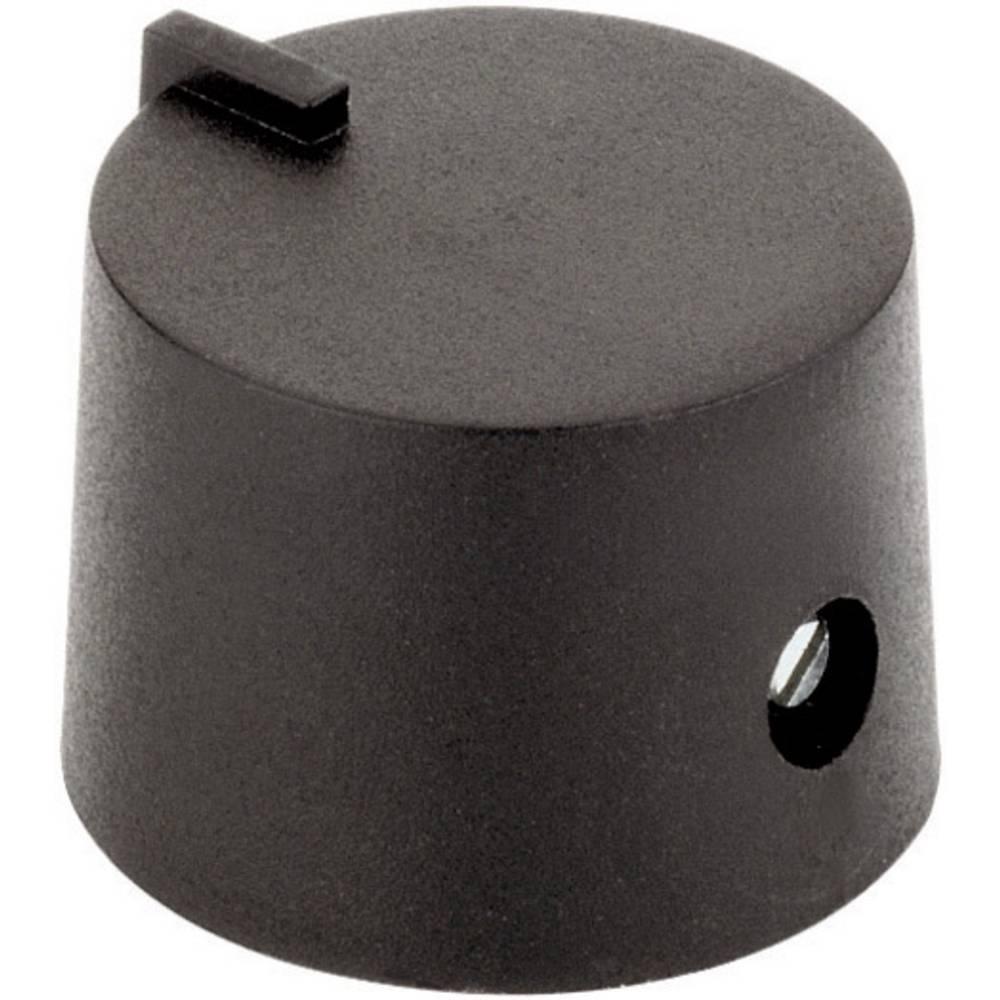 Plastični vrtljivi gumb 17/6 črni premer osi 6 mm 4458.6317