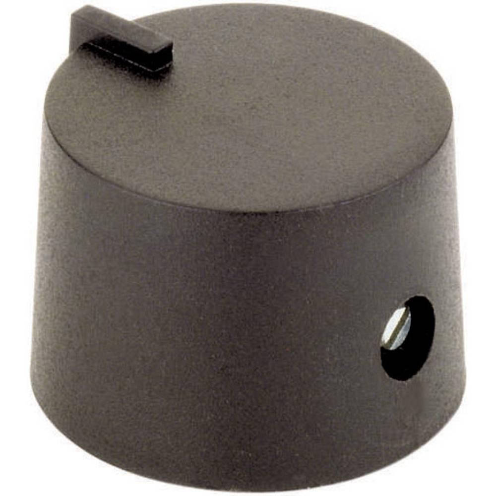 Vrtljivi gumb gumb 21/6 črni,premer osi 6 mm 44586321