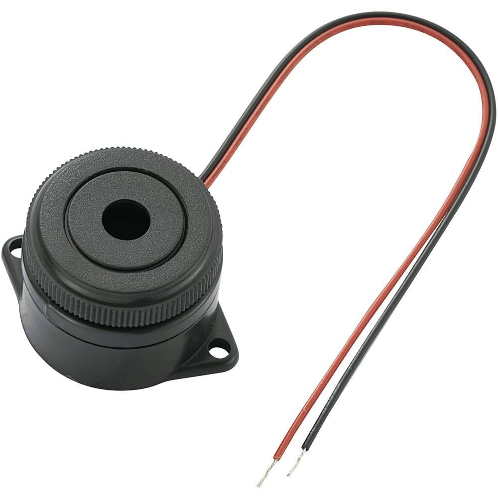 Piezo-Brenčač KPI serije, glasnost: 90 dB 12 V/DC, sprejem el. toka: 15 mA 3,7 + 0,5 kHz.. KPI-G2910L-6272 KEPO