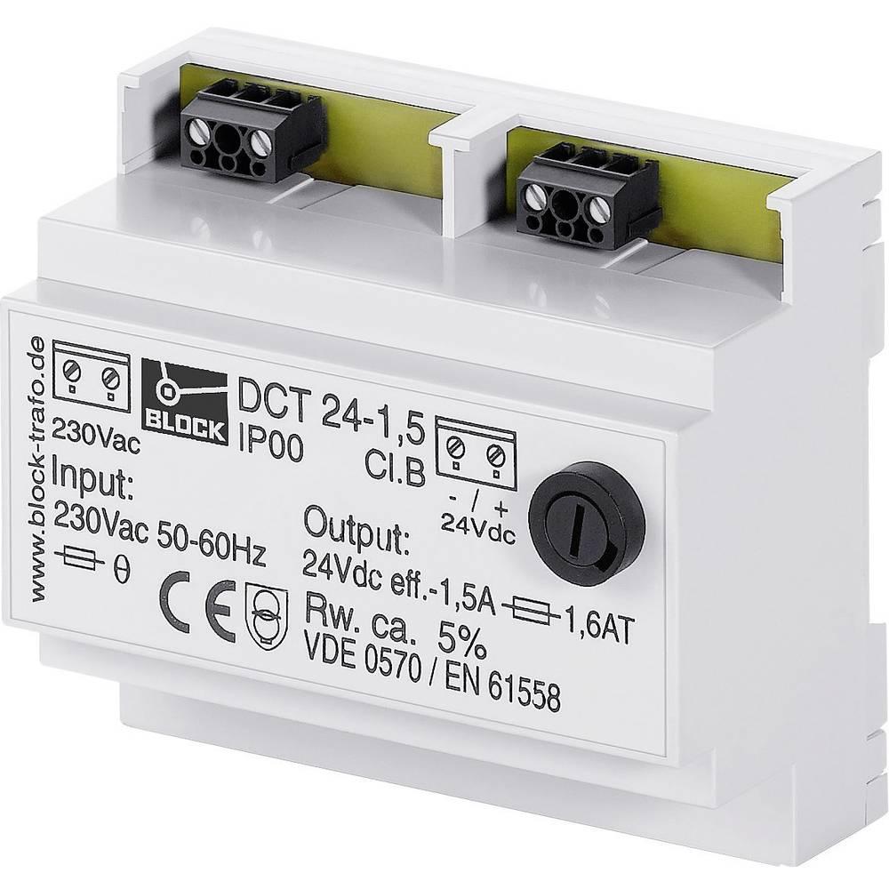 Enosmerni napajalnik, serije DCT 12 V/DC 24 VA Block, vsebina: 1 kos