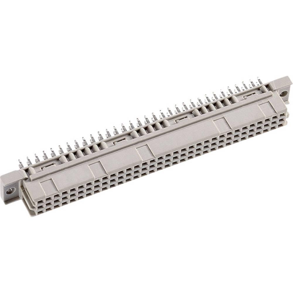 Multistikfatning DIN 41612 Type C32F ac straight 13 mm (2,4,6 ..) Samlet poltal 32 Antal rækker 3 ept 1 stk