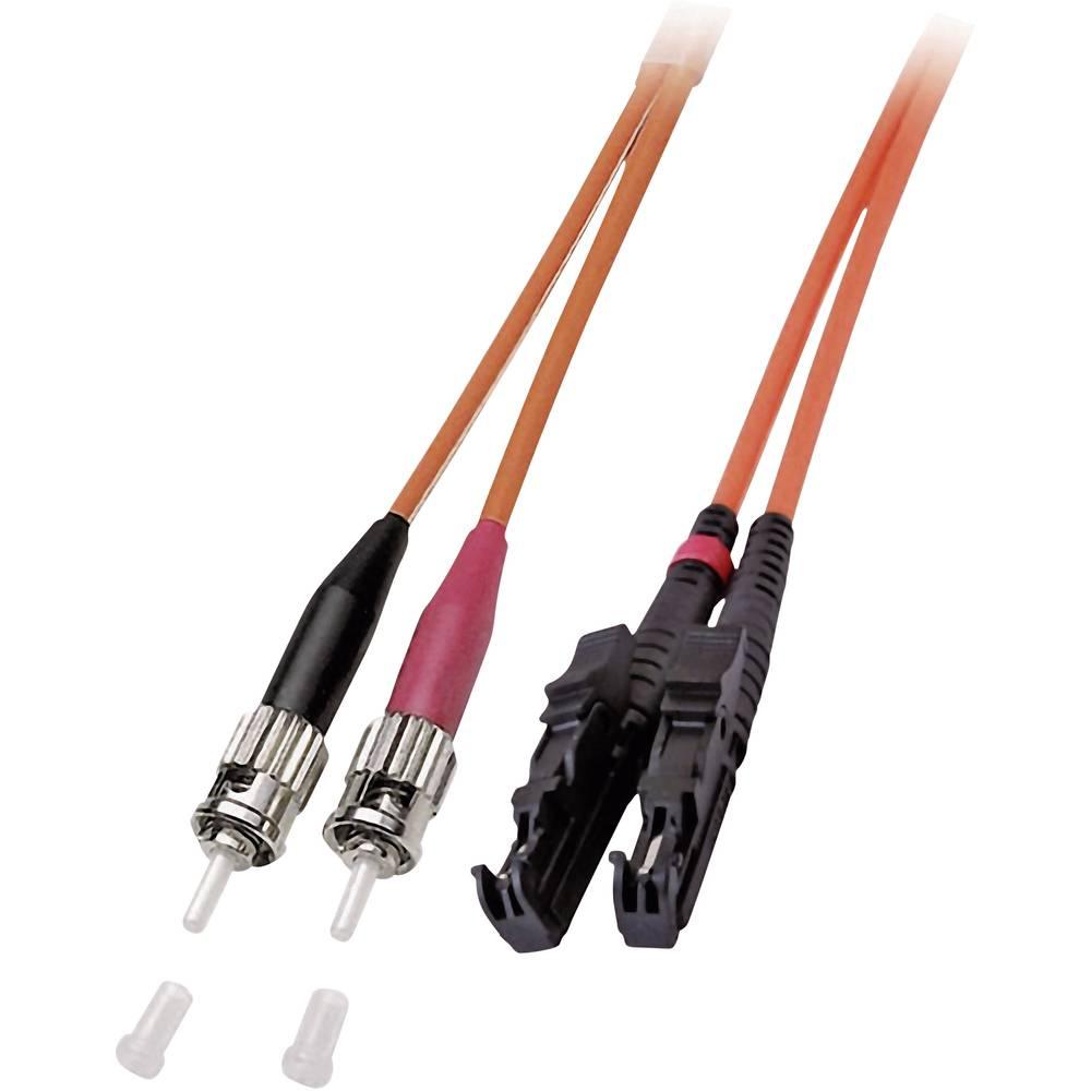 Optični priključni kabel [1x E2000® vtič - 1x ST vtič] 50/125µ Multimode OM2 7.50 m EFB Elektronik
