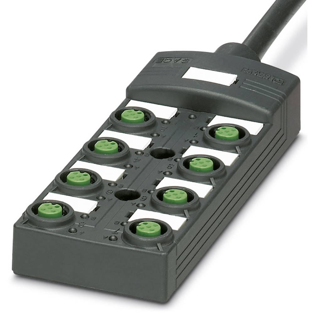 Sensor/aktorbox passiv M12-fordeler med kunststofgevind SACB-8/16-L-10,0PUR SCO P 1452738 Phoenix Contact 1 stk