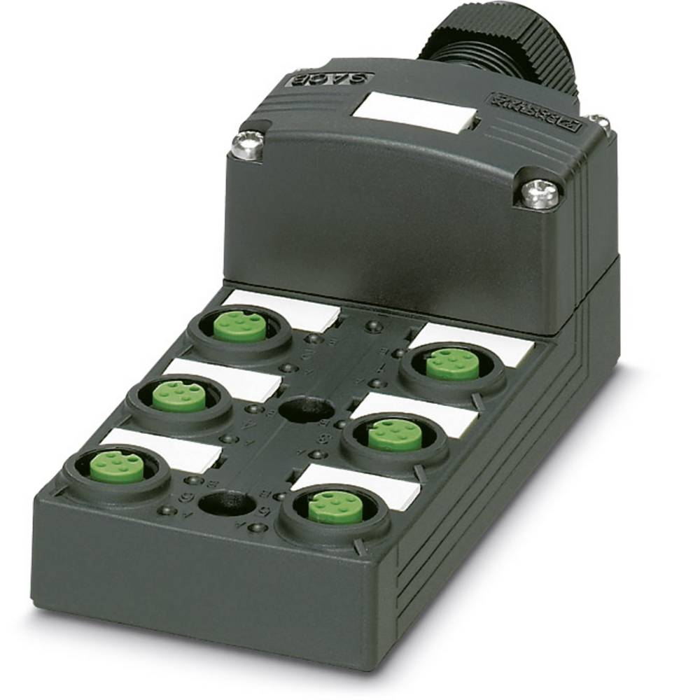 Sensor/aktorbox passiv M12-fordeler med kunststofgevind SACB-6/ 6-L-C SCO P 1452822 Phoenix Contact 1 stk