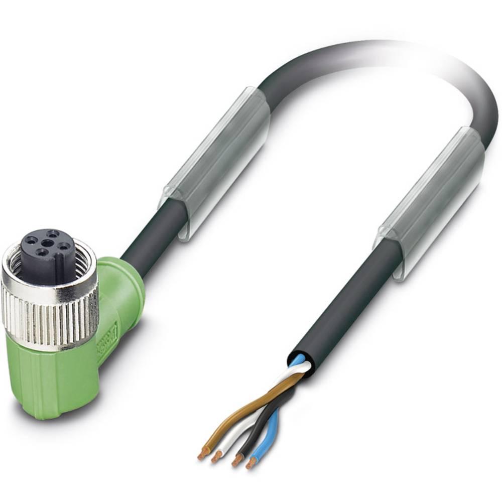 Sensor-, aktuator-stik, M12 Tilslutning, vinklet 10 m Pol-tal (RJ): 4 Phoenix Contact 1669673 SAC-4P-10,0-PUR/M12FR-V2A 1 stk