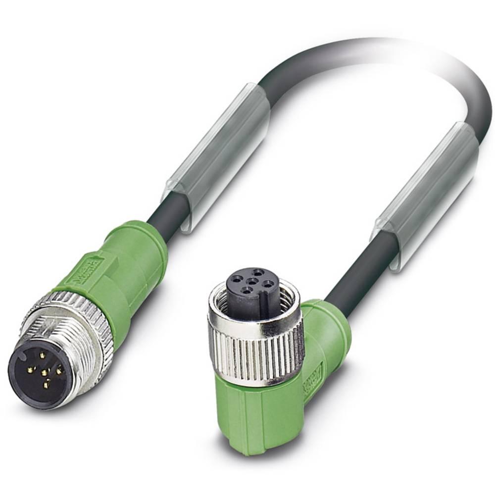 Sensor-, aktuator-stik, Phoenix Contact SAC-5P-M12MS/0,6-PUR/M12FR 1 stk