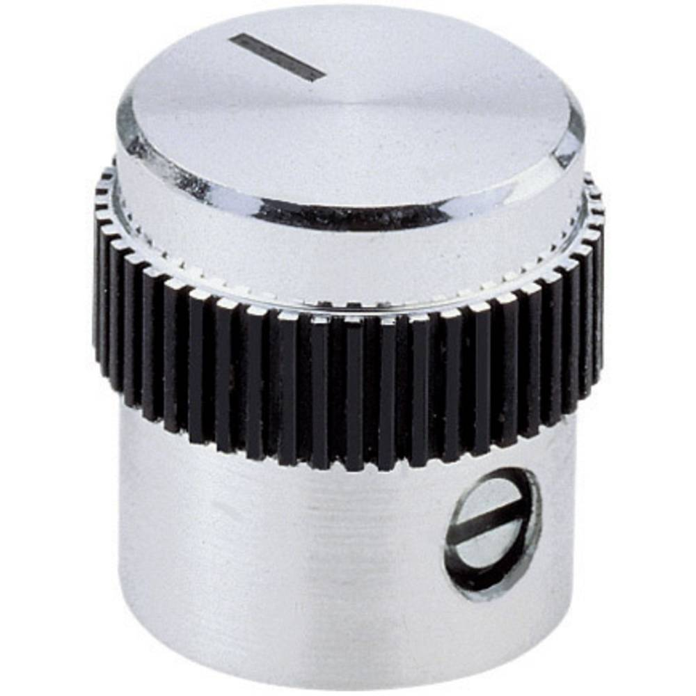 Mentor aluminijast gumb s plastičnim uložkom promjer osi 6mm 5615.6614