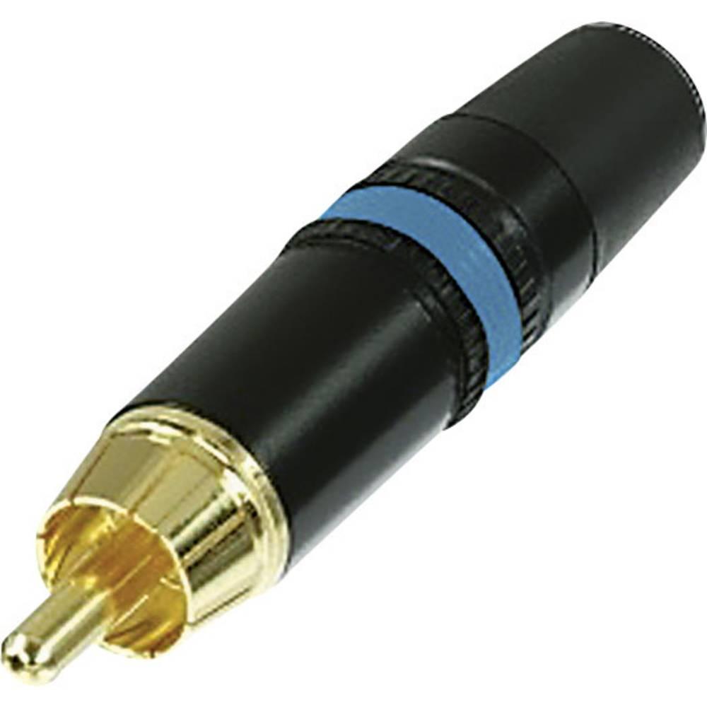 Rean AV NYS373-6-Činč konektor, moški, ravni kontakti, AV, število polov: 2, črn/moder, 1 kos
