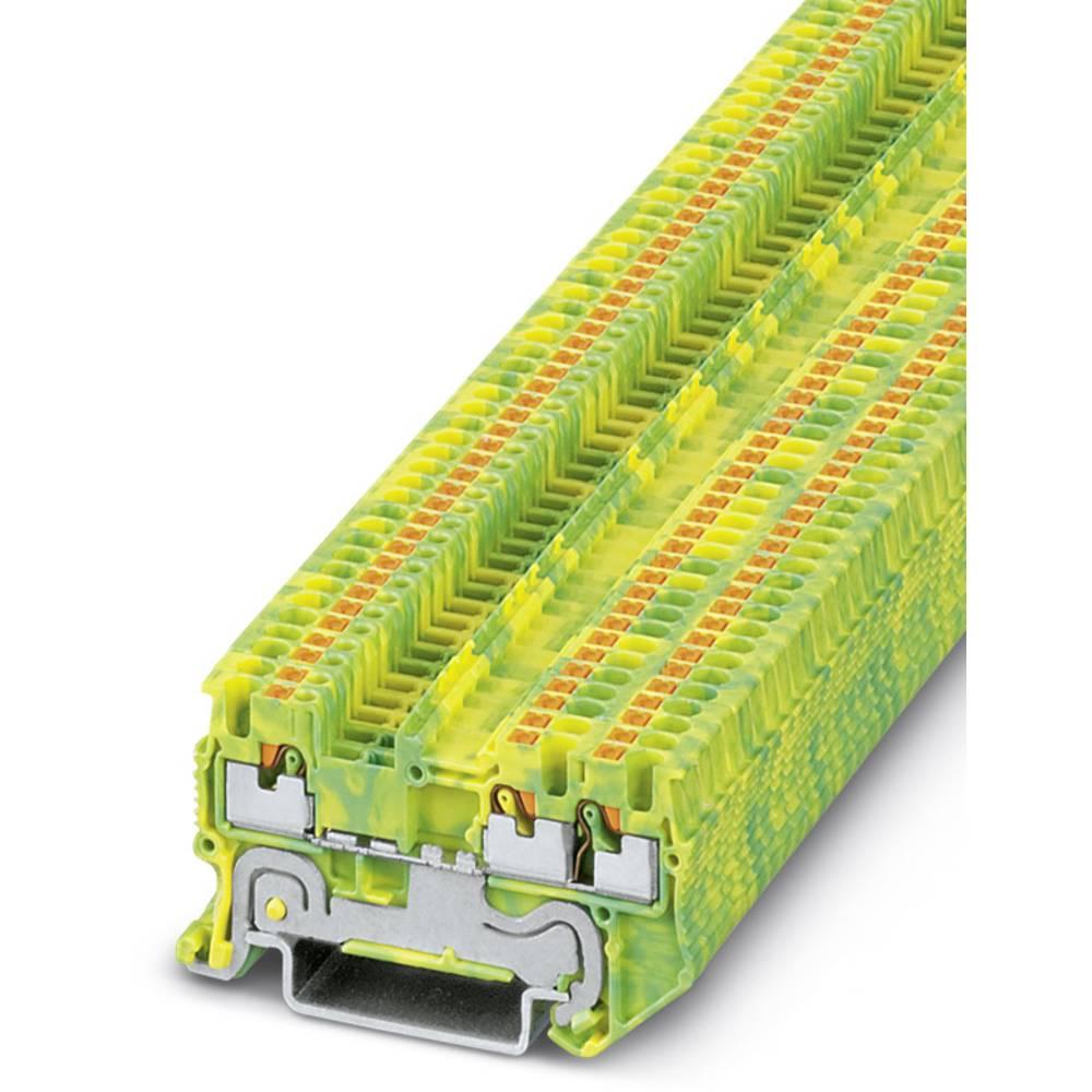 PT 1.5 / S-TWIN-PE - beskyttelsesleder klemrække Phoenix Contact PT 1,5/S-TWIN-PE Grøn-gul 50 stk