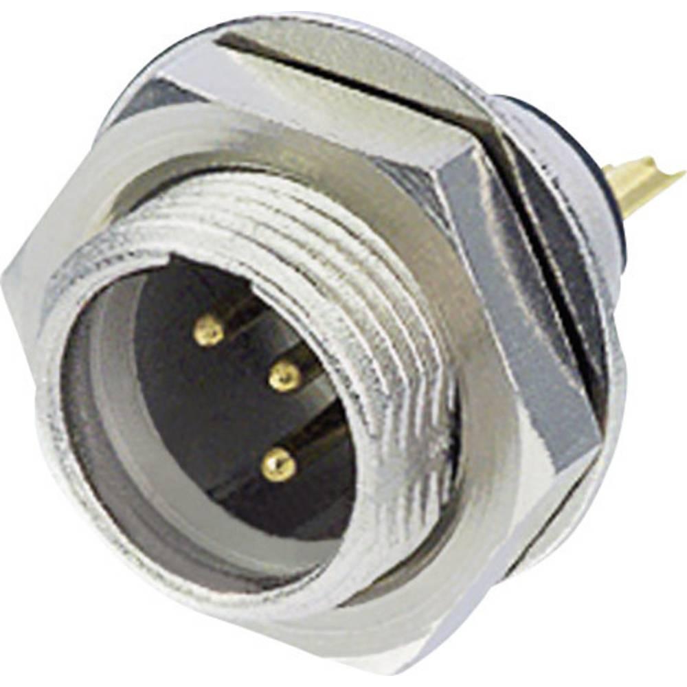 Rean AV RT3MPR-Konektor XLR, za vertikalno vgradnjo, število polov: 3, srebrn, 1 kos