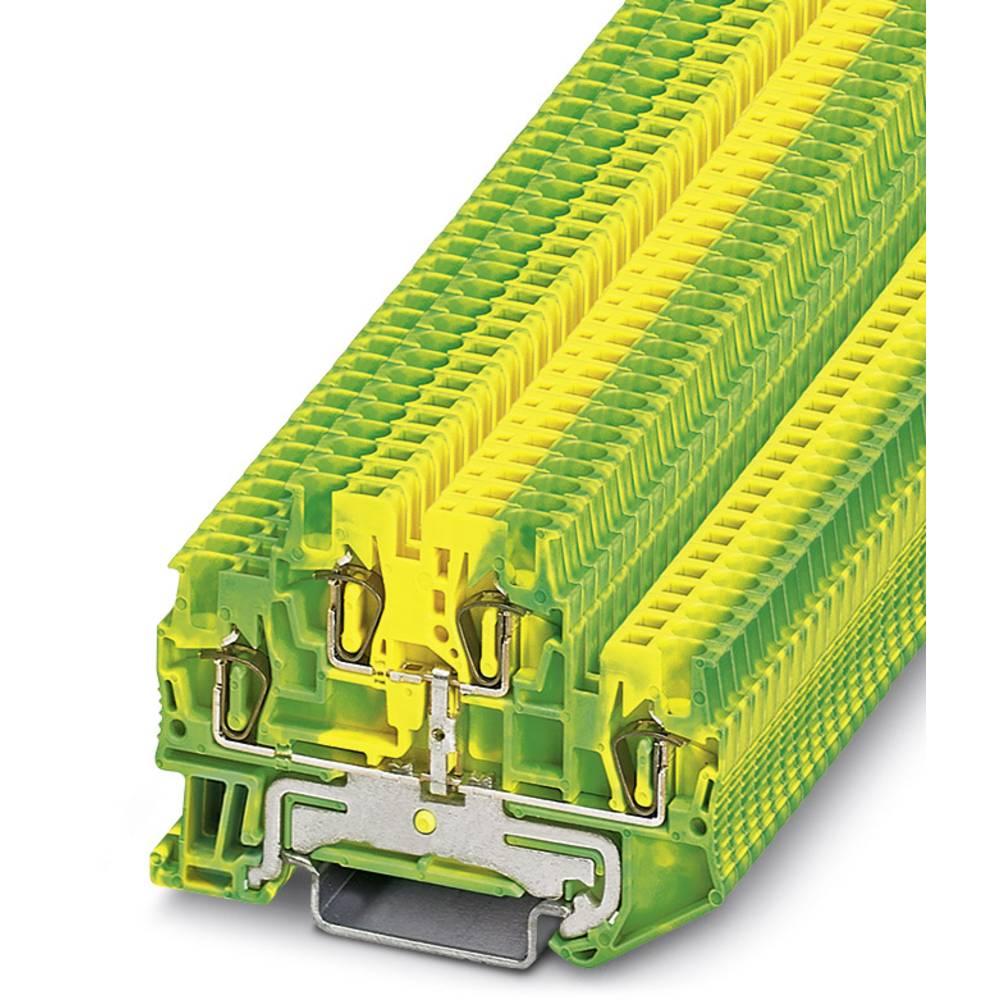 Feed-through terminal block STTB 1,5-PE Phoenix Contact STTB 1,5-PE Grøn-gul 50 stk