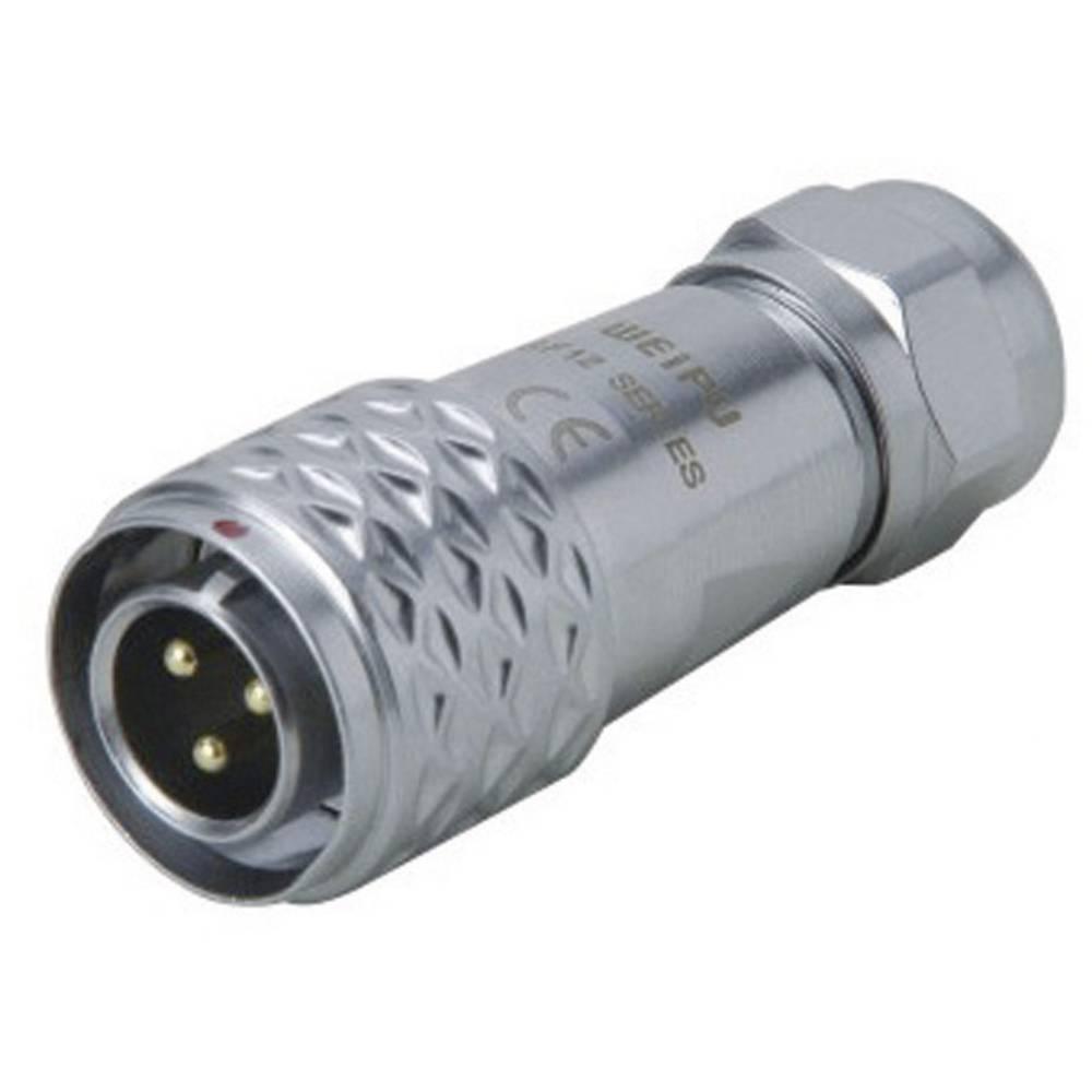 Okrogli konektor za hitro ločevanje Weipu SF1210/P3 I, IP67, nazivni tok: 13 A, poli: 3
