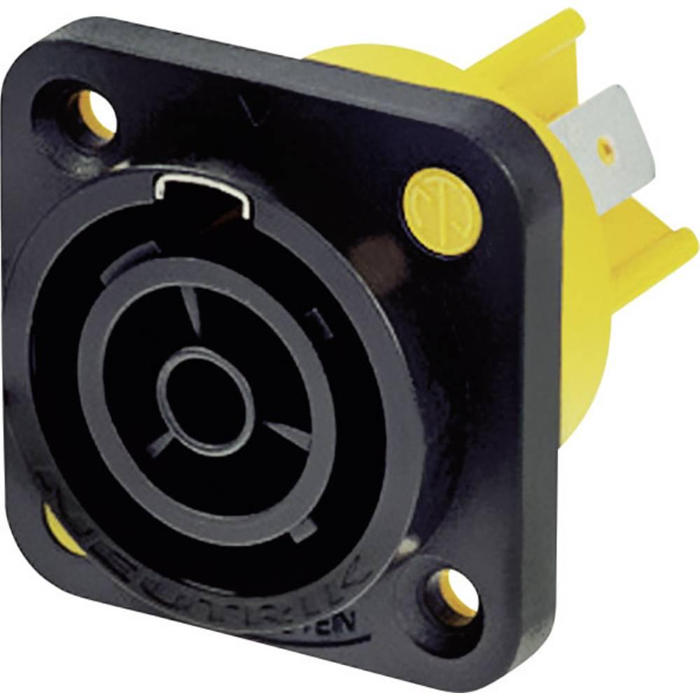 Strømstik powerCON Serie (netstik) powerCON Tilslutning, indbygning lodret Samlet poltal: 2 + PE 16 A Sort Neutrik NAC3FPX 1 stk