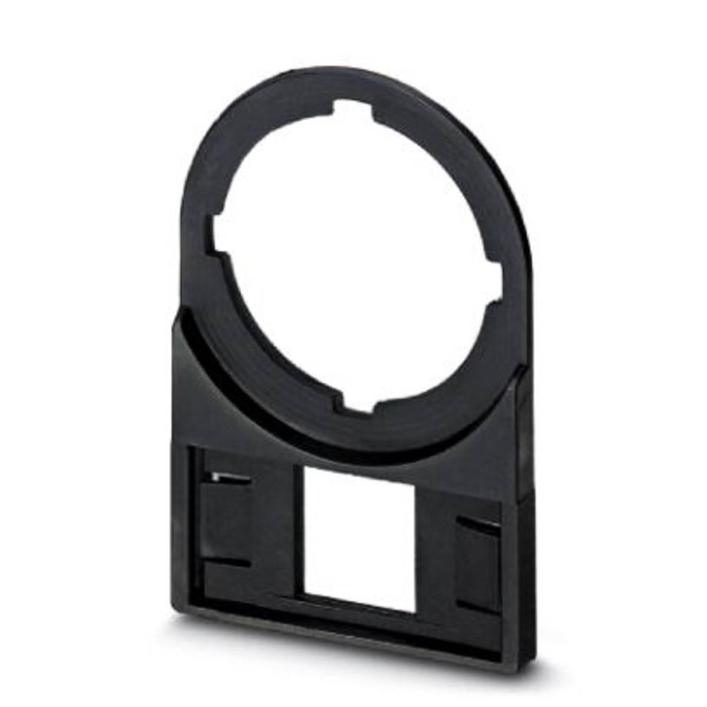 Nosilec oznak, montaža: vstavljanje, površina: 27 x 12.50 mm primeren za serijo gumbi in stikala 22 mm črne barve Phoenix Contac