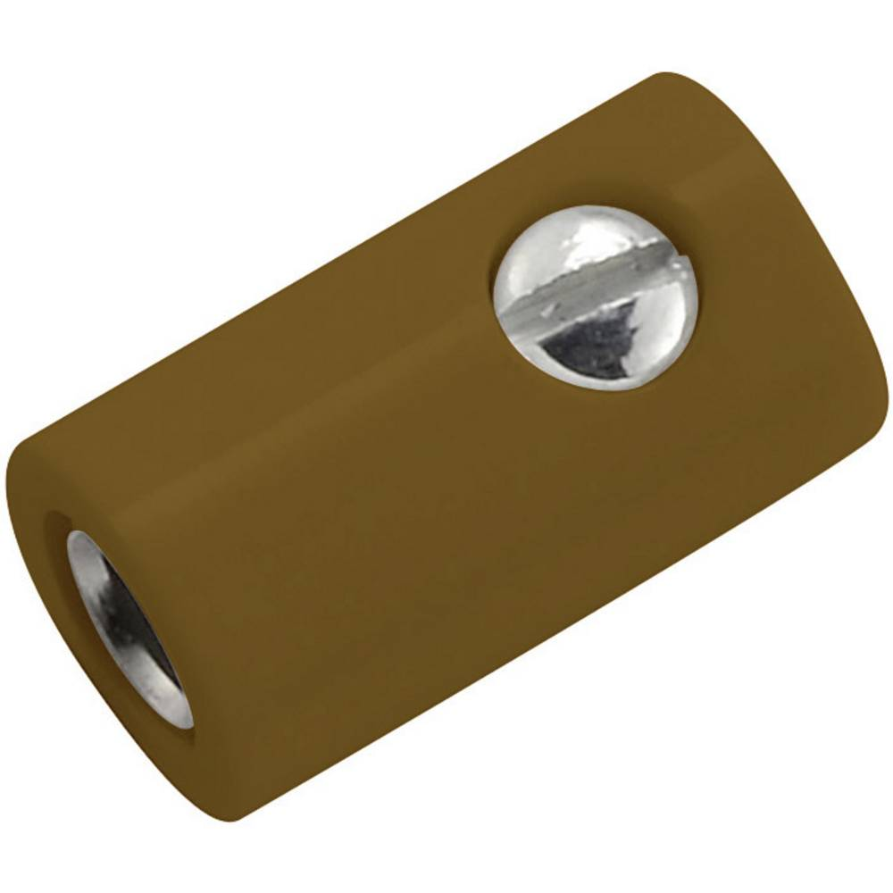 Miniaturelaboratorie-tilslutning Tilslutning, lige 2.6 mm Brun 1 stk