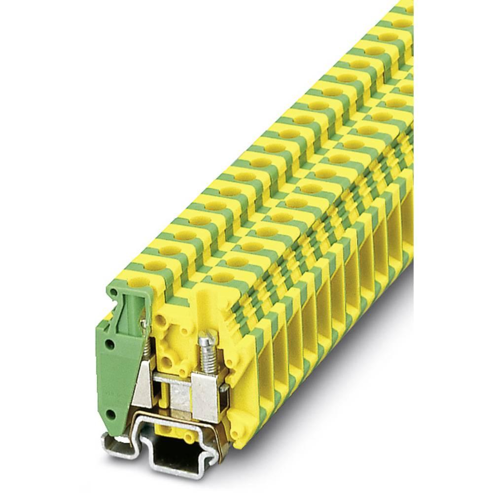 MBK 5 / E-Z-PE - beskyttelsesleder klemrække Phoenix Contact MBK 5/E-Z -PE Grøn-gul 50 stk