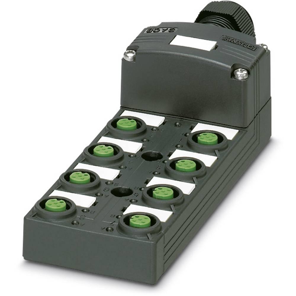 Sensor/aktorbox passiv M12-fordeler med kunststofgevind SACB-8/ 8-L-C SCO P 1452848 Phoenix Contact 1 stk