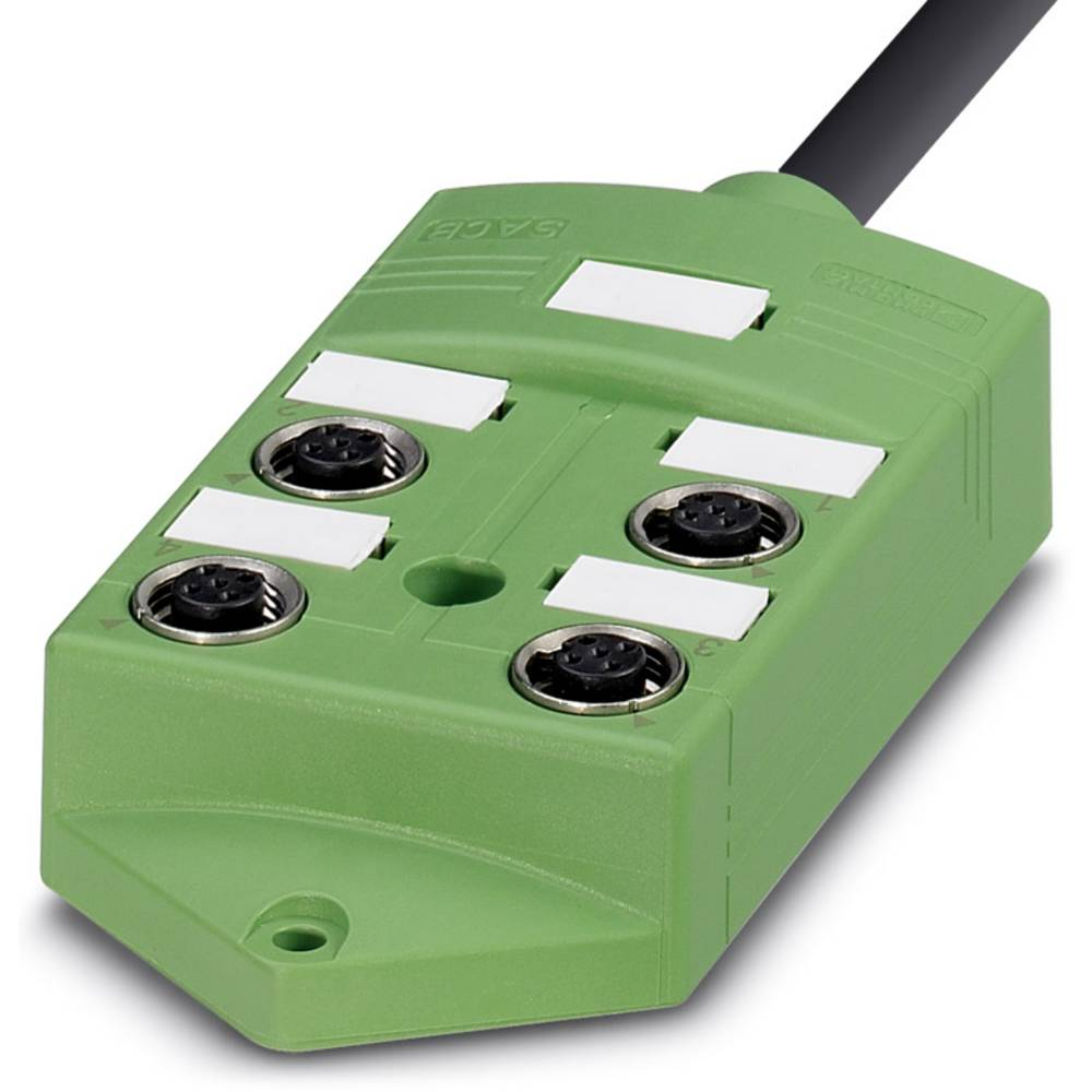 Sensor/aktorbox passiv M12-fordeler med metalgevind SACB-4/ 8- 5,0PUR SCO 1516988 Phoenix Contact 1 stk
