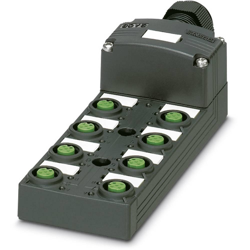 Sensor/aktorbox passiv M12-fordeler med kunststofgevind SACB-8/16-L-C SCO P 1452851 Phoenix Contact 1 stk