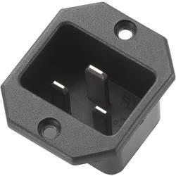 Priključek za hladne naprave C20 vtič, pokončna namestitev, skupno št. polov: 2 + PE 16 A črne barve 1 kos