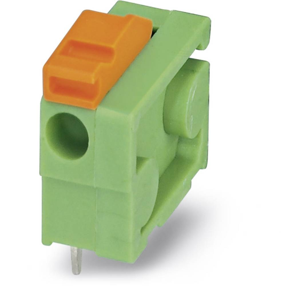 Fjederkraftsklemmeblok Phoenix Contact FFKDSA1/H-6,35 1.00 mm² Poltal 1 Grøn 50 stk