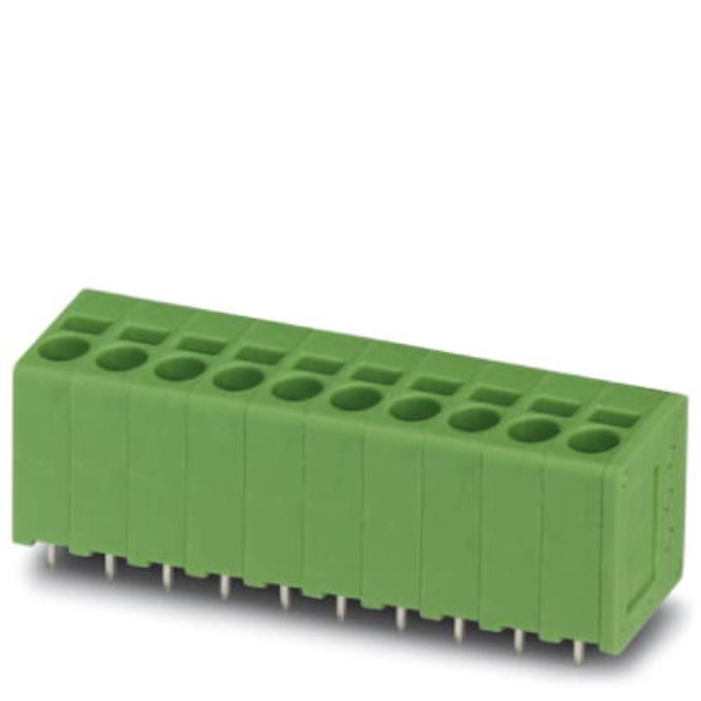 Fjederkraftsklemmeblok Phoenix Contact SPT 2,5/ 2-V-5,0 2.50 mm² Poltal 2 Grøn 100 stk