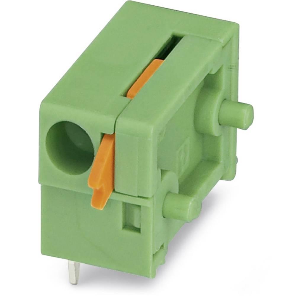 Fjederkraftsklemmeblok Phoenix Contact FFKDSA/H2-7,62 1.50 mm² Poltal 1 Grøn 250 stk