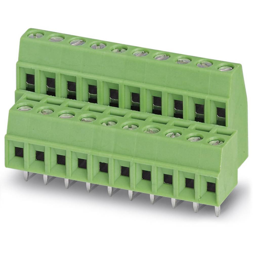 Dobbeltrækkeklemme Phoenix Contact MKKDS 1/ 5-3,81 1.00 mm² Poltal 10 Grøn 50 stk