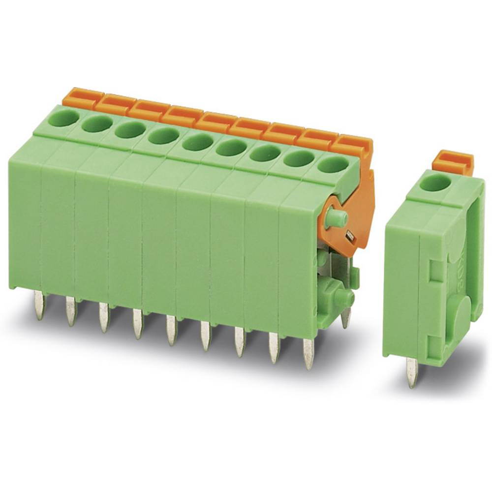 Fjederkraftsklemmeblok Phoenix Contact FFKDSA1/V-3,81-10 1.00 mm² Poltal 10 Grøn 50 stk