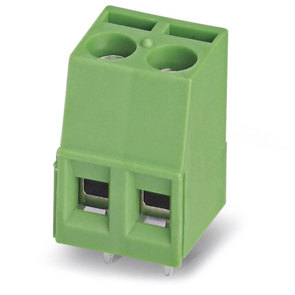 Skrueklemmeblok Phoenix Contact MKDS 1,5/ 2-B-5,08 1.50 mm² Poltal 2 Grøn 50 stk