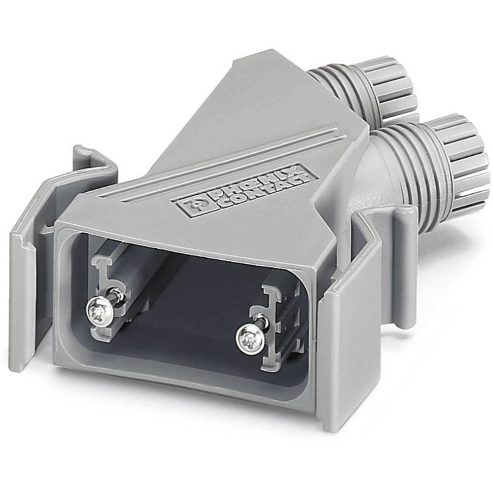 D-SUB ohišje, iz umetne mase, metalizirano 180 ° srebrne barve Phoenix Contact VS-09-T-2M16 5 kosov