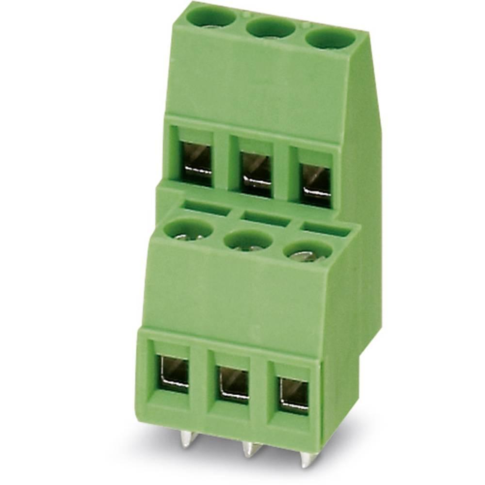 Dobbeltrækkeklemme Phoenix Contact MKKDS 1,5/ 3-5,08 1.50 mm² Poltal 6 Grøn 100 stk