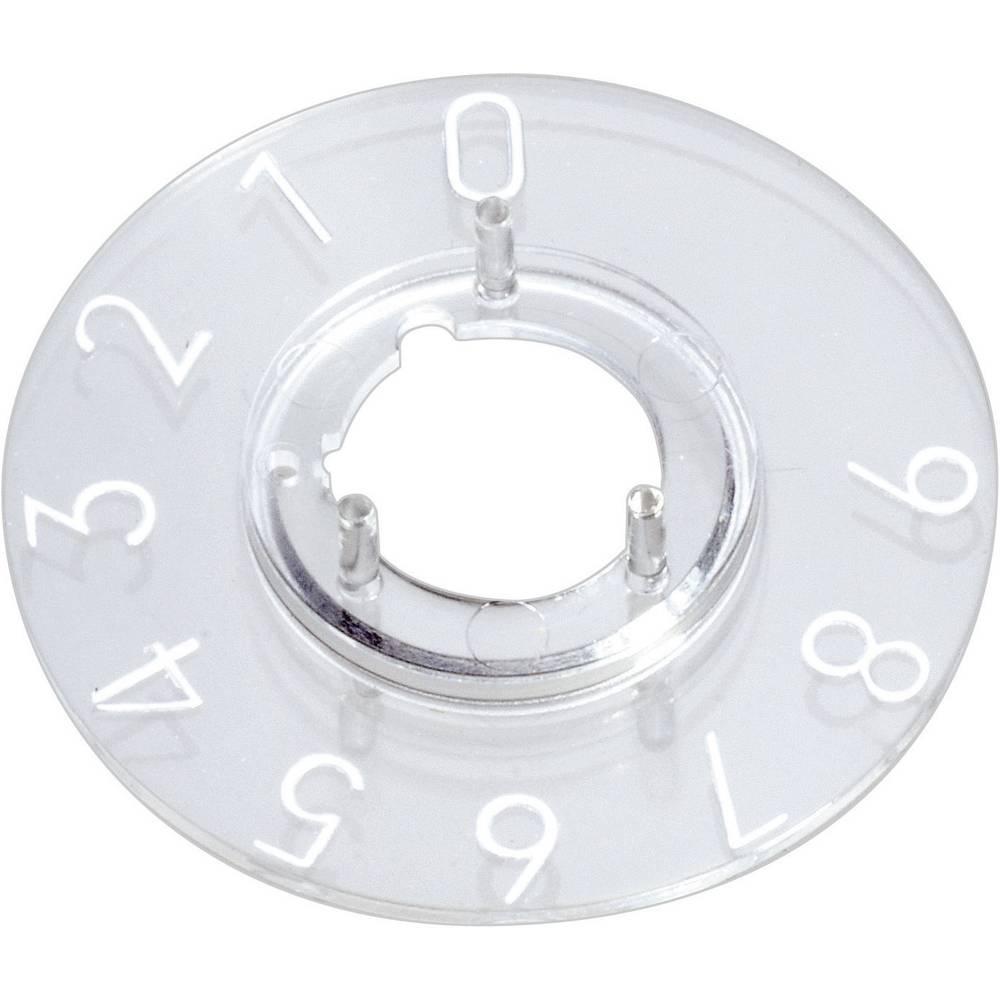 Pločica sa skalom za okrugli gumb promjera 23mm OKW