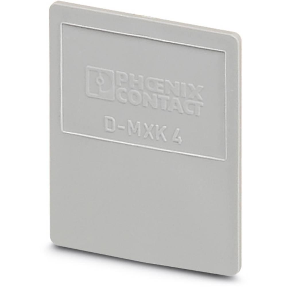 D-MXK 4 - End cap D-MXK 4 Phoenix Contact Indhold: 50 stk